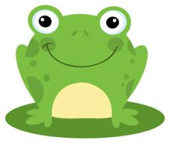 Symmetry clipart cute frog