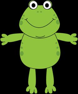 Bullfrog clipart leap frog