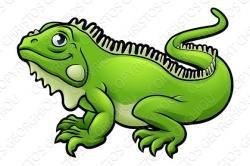 Green Iguana clipart comic