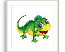 Green Iguana clipart tropical animal