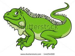 Green Iguana clipart two