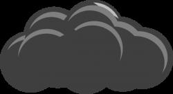Thunder clipart grey cloud