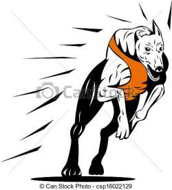 Greyhound clipart greyhound racing