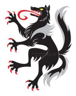 Wolf clipart heraldic