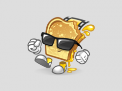 Grilled Cheese clipart animated