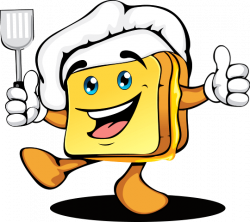 Grilled Cheese clipart cartoon