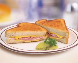 Grilled Cheese clipart ham and cheese sandwich