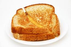 Grilled Cheese clipart plate sandwich