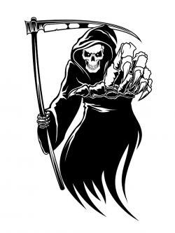 Drawn grim reaper clipart