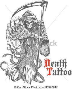 Grim Reaper clipart cape