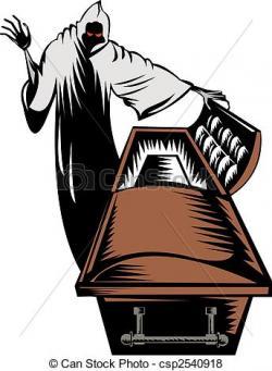 Grim Reaper clipart coffin