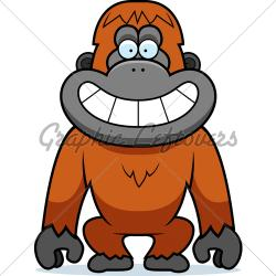 Orangutan clipart animated