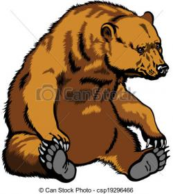 Drawn grizzly bear animated