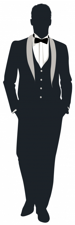 Suit clipart groom silhouette