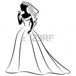 Veil clipart beautiful bride