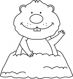 Groundhog clipart black and white