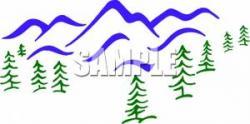 Sream clipart mountain tree