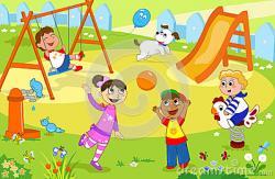 Playground clipart childhood