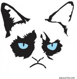 Drawn grumpy cat face