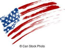 Grundge clipart american flag