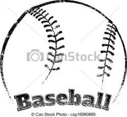 Grundge clipart baseball