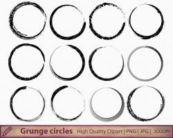 Grundge clipart circle