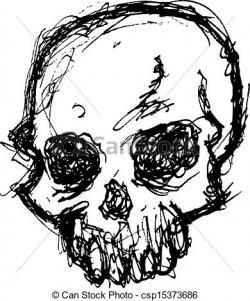 Grundge clipart skull