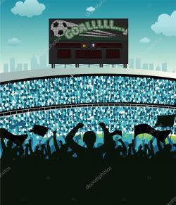 Grunge clipart stadium crowd