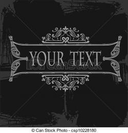 Grundge clipart text banner