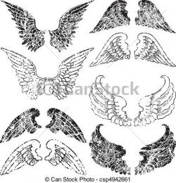 Grundge clipart wing