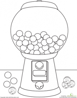 Gumball clipart coloring page