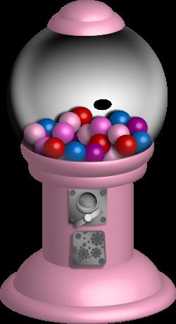 Gumball clipart pink ball