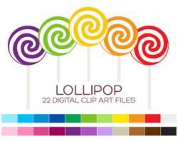 Lollipop clipart pastel