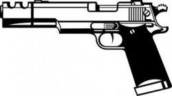 Machine Gun clipart handgun