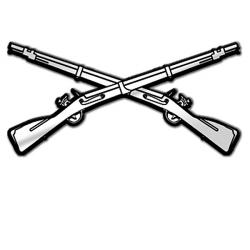 Gun Shot clipart crossed rifle