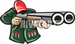 Hunting clipart double barrel shotgun