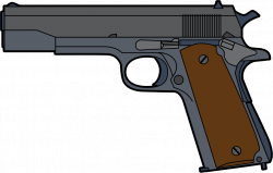 Gun Shot clipart handgun