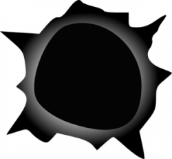 Black Hole clipart black and white