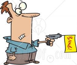 Gun Shot clipart line art