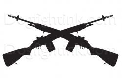 Sniper clipart crossed rifle