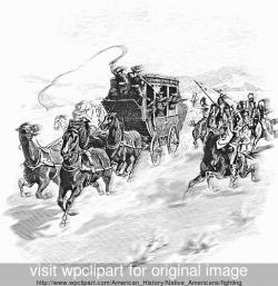Gun Shot clipart stagecoach
