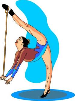 Gymnast clipart animated