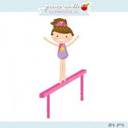 Gymnast clipart balance beam