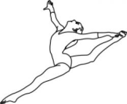 Gymnast clipart black and white