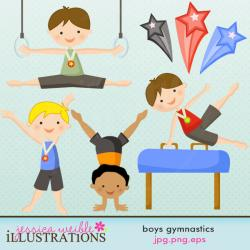 Gymnast clipart boys gymnastics