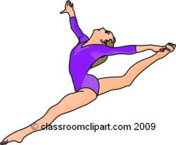 Gymnast clipart cartoon