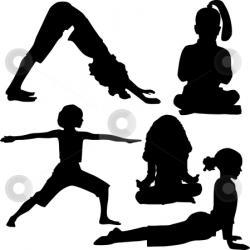 Gymnastics clipart child yoga