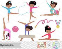 Gymnast clipart exercise
