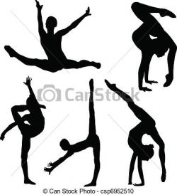 Gymnast clipart flexibility