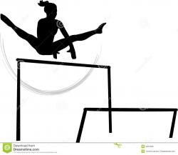 Gymnast clipart gymnastics bar